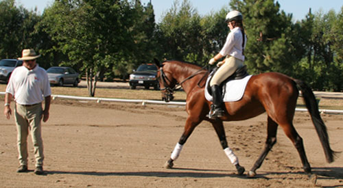 Kate on Lucie in a lesson with Tom Valter